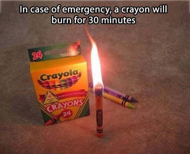 survival hack 30 minute fire from crayon