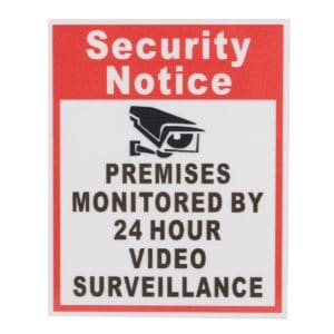 home security tips security signs