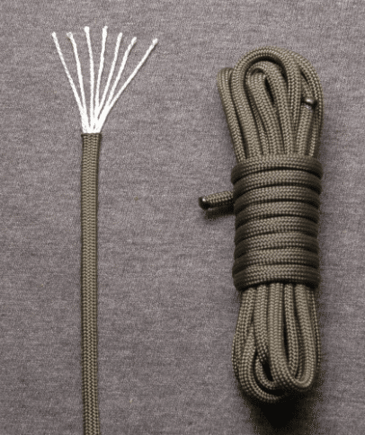 Cordage to show how to turn paracords into fishing line