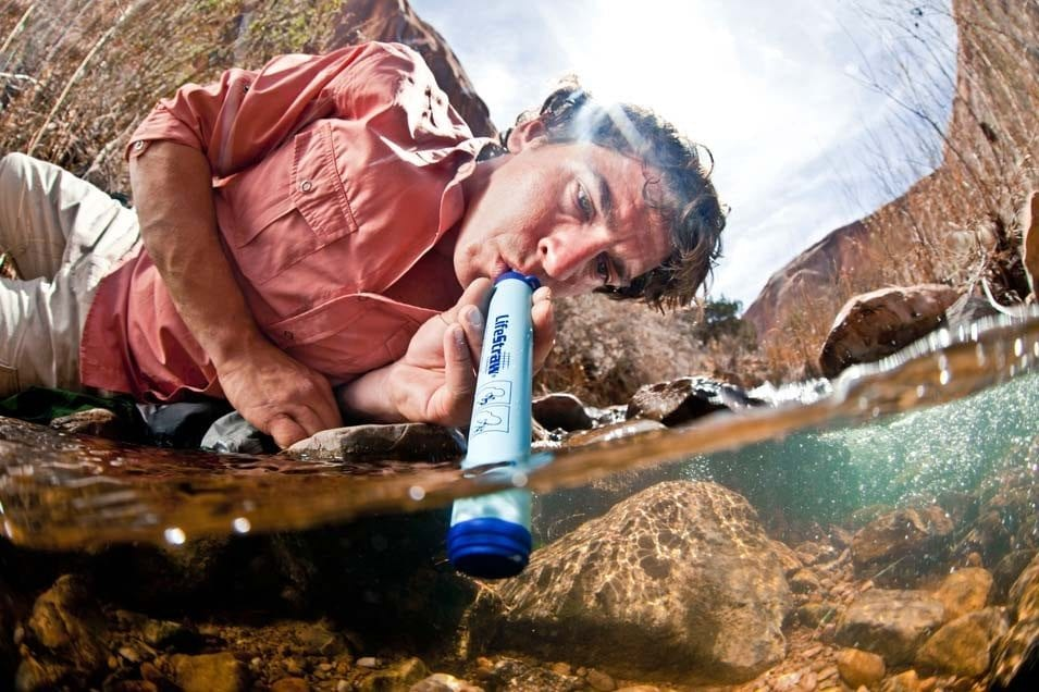 LIfestraw straw style of water filter steripen products salty water fruit peels