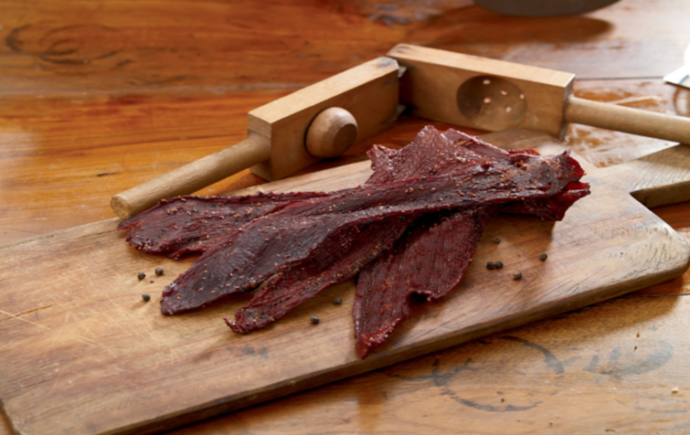 Peppered Beef Jerky Recipe slab of beef batches of her famous jerky enormous fan of homemade beef classic jerky flavor best way best homemade beef