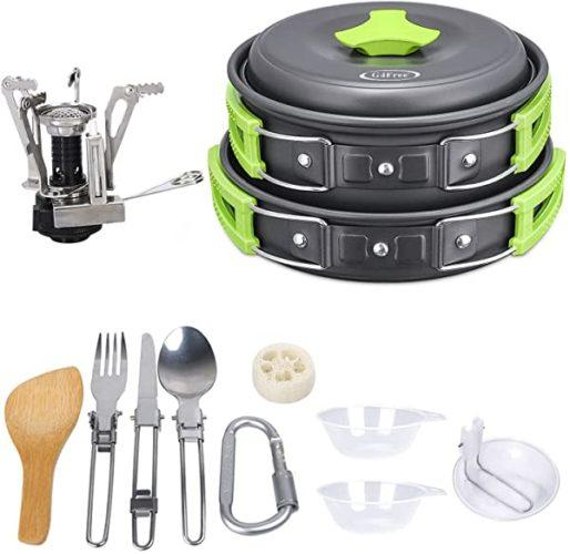 compact camping cookware