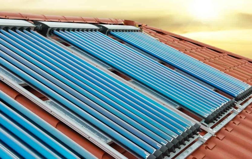 solar heating sunroof device section